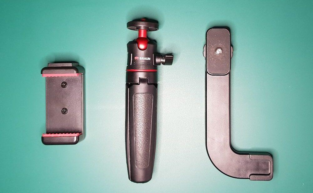 Smartphone-Aufnahmer, Stativ MT-27 und Halterung VLM1