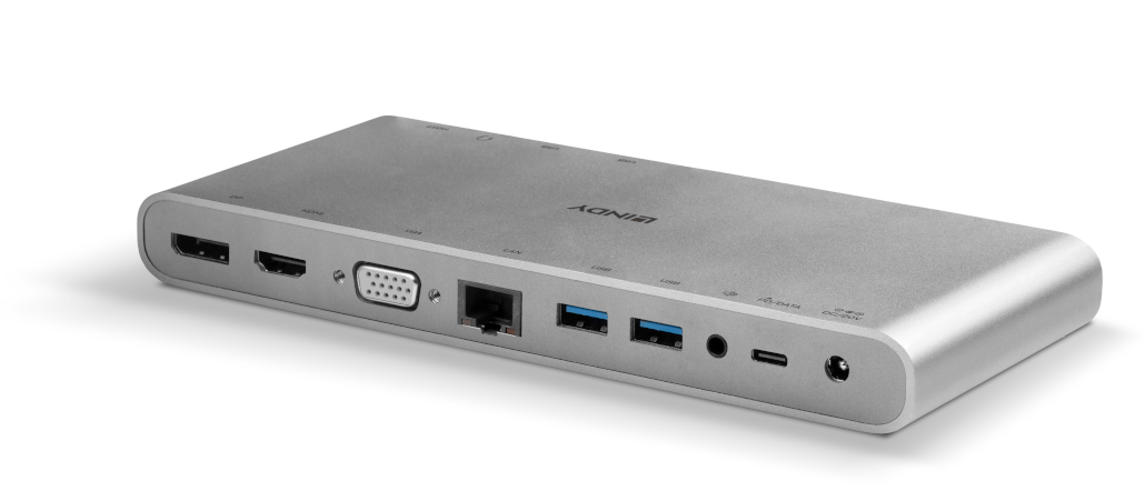 Rückansicht USB-Dockingstation 43226